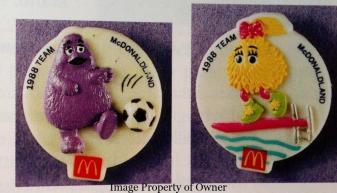 Olympics 1988 badges