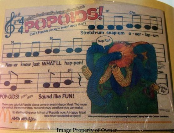 Popoids song sheet