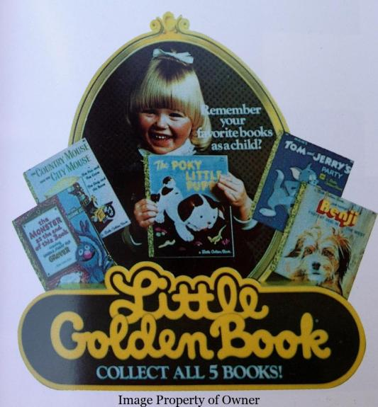 Little Golden Book Happy Meal store placard
