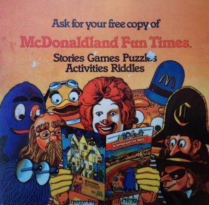 McDonaldland Fun Times placard