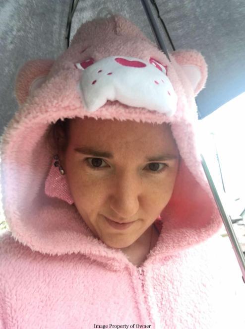 Cheer Bear onesie