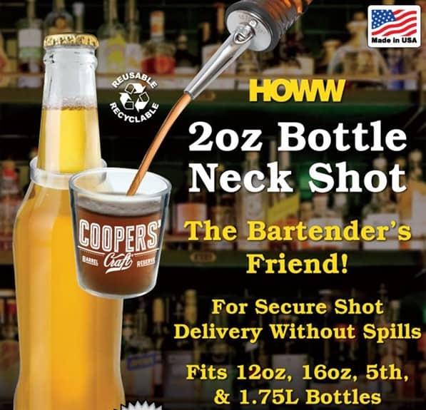 2 oz Plastic Bottle Neck Shot Glass