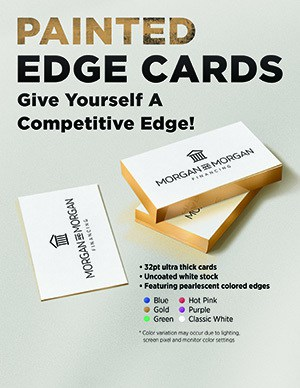 Painted Edge Business Cards Miami