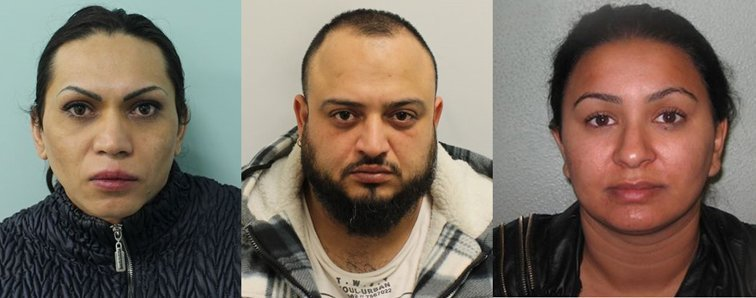 Three sentenced for sex trafficking offences in East London
