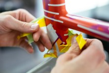 Lots of masking work went into each Red Hook Barcelona frame from Specialized.