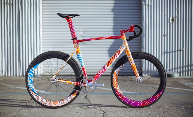 Specialized racers will head to Red Hook Barcelona aboard a trio of custom painted Allez Sprint bikes that were custom outfitted for track duty.
