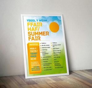 Ysgol Y Wern Summer Fair Poster