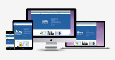 Abbey Cleaning Website Responsive Views