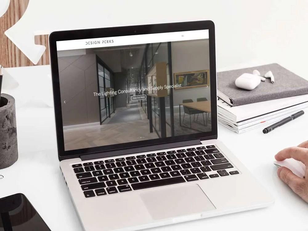 Design Perks Website Macbook