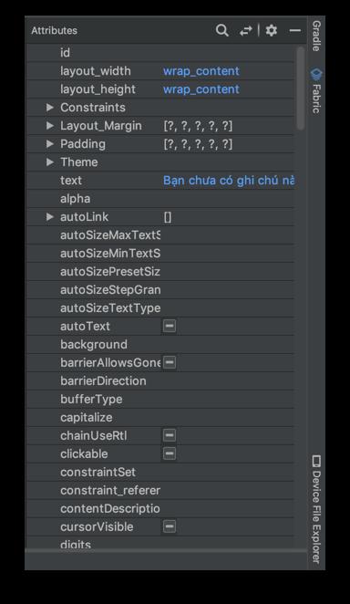 Tạo giao diện người dùng - All attributes