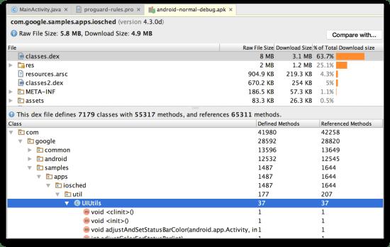 Android Studio - APK Analyzer xem file DEX