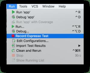 Android Studio - Khởi chạy Espresso Test