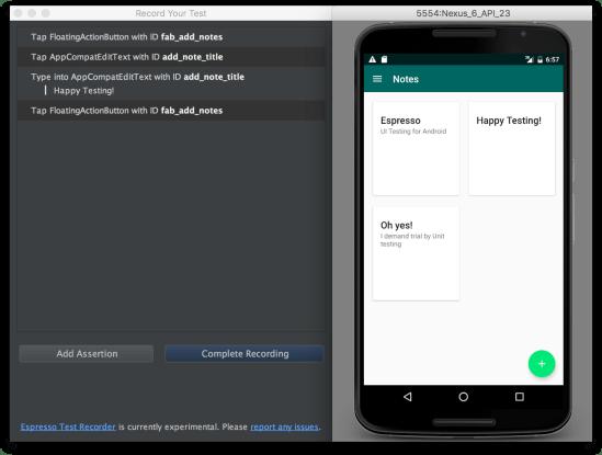 Android Studio - Giải nghĩa việc thêm hành động test