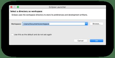 Cài đặt các công cụ phát triển - Eclipse chạy lần đầu