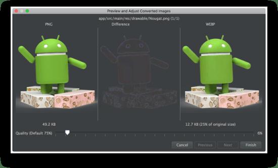 Công cụ lập trình Android - WebP