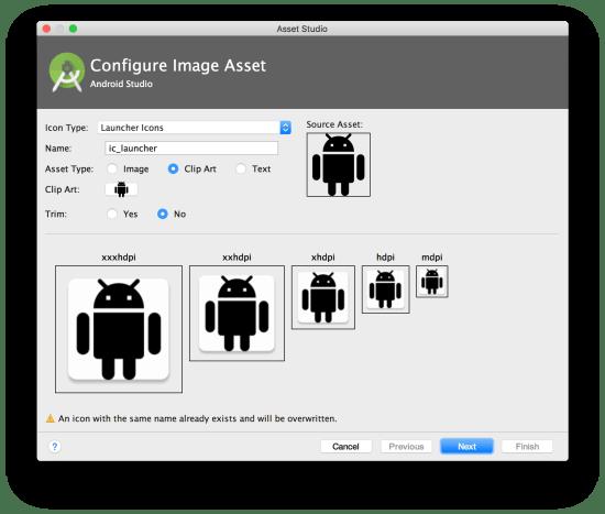 Công cụ lập trình Android - Image Asset Studio