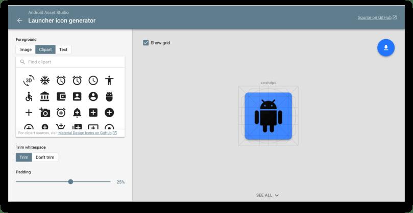 Hình ảnh công cụ Android Asset Studio