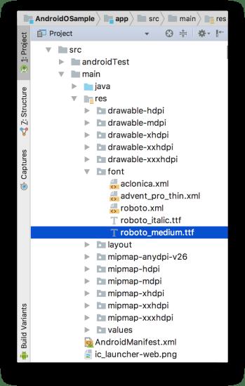 Android O - Fonts Từ XML