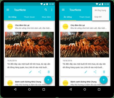 ActionBar - Chuẩn bị xây dựng ActionBar cho TourNote