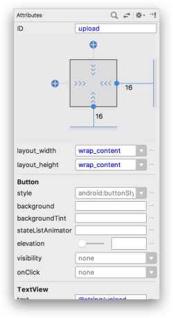 ConstraintLayout - Attribute