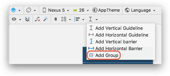 ConstraintLayout - Chức năng group