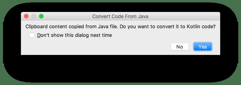 Android Studio 3.0 - Dán một đoạn code Java vào file Kotlin