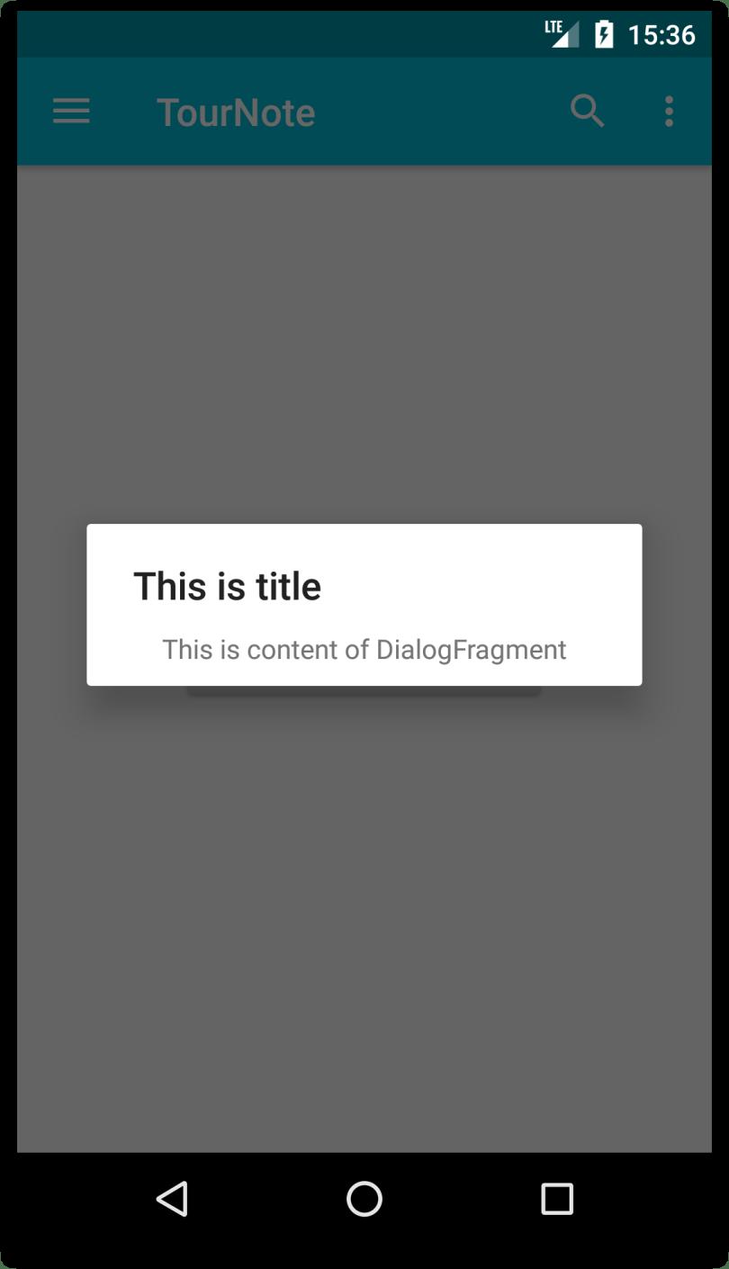 Minh họa DialogFragment