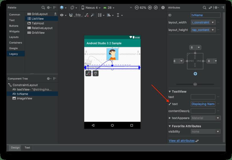 Android Studio 3.2 - Sample Data phiên bản cũ