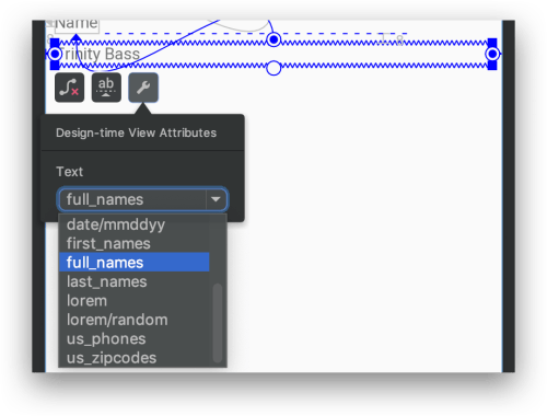 Android Studio 3.2 - Sample Data cho TextView