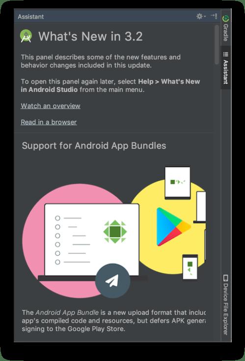 Android Studio 3.2 - Cửa sổ What's New