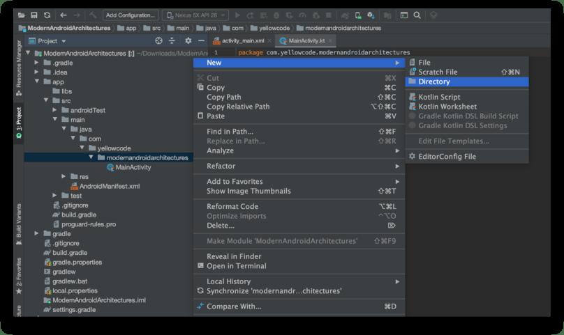 Tạo các thư mục con chứa source code