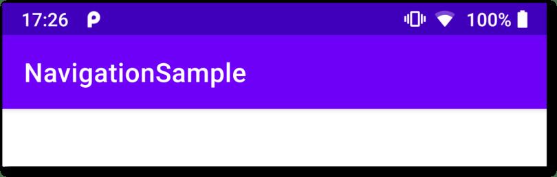 Tiêu đề của ứng dụng luôn là NavigatioonSample