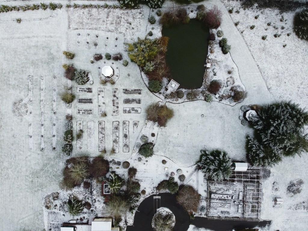Snowy aerial