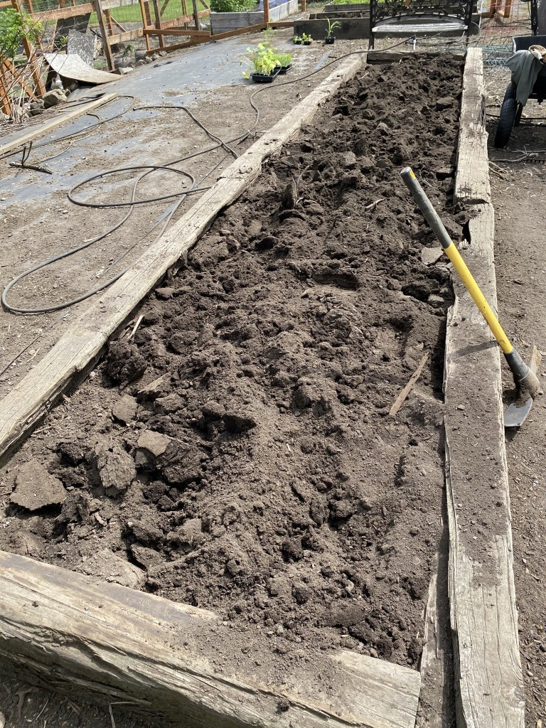 Breaking up compacted soil