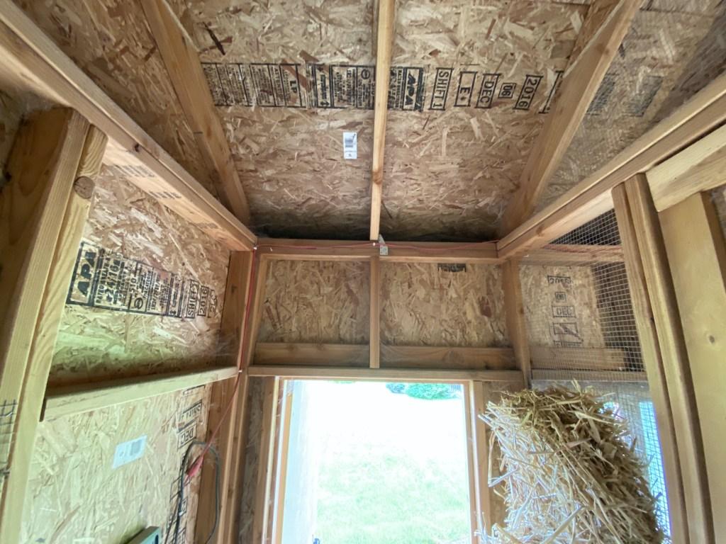 Space above door in coop
