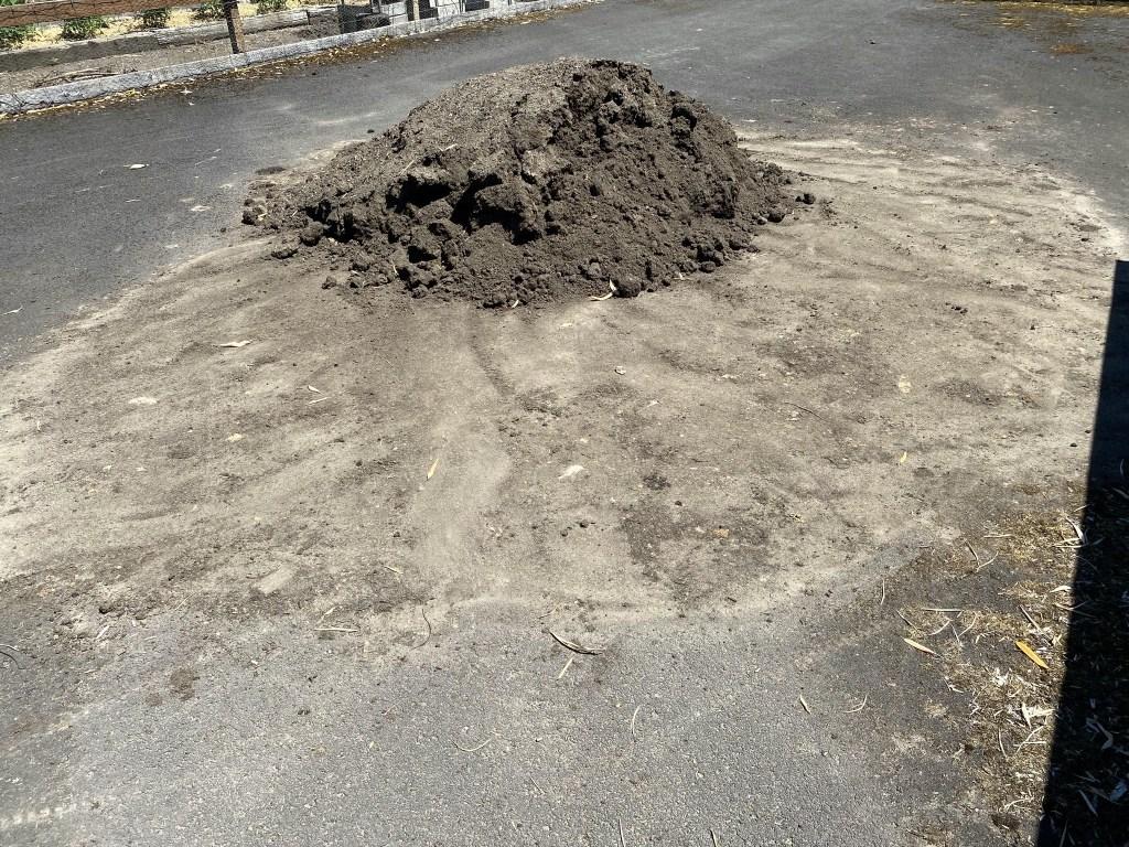 Smaller soil pile