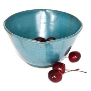 Teal Blue Pottery Bowl