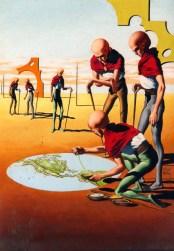 """The Sand Painters"" - Virgil Finlay - Fantastic Universe, April 1957"