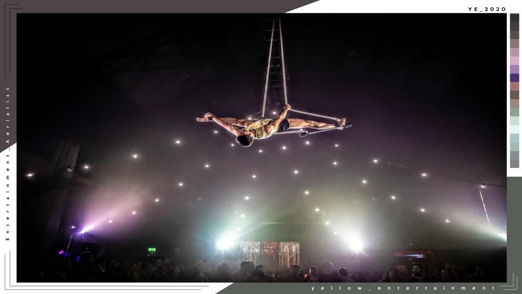 male aerialist entertainment