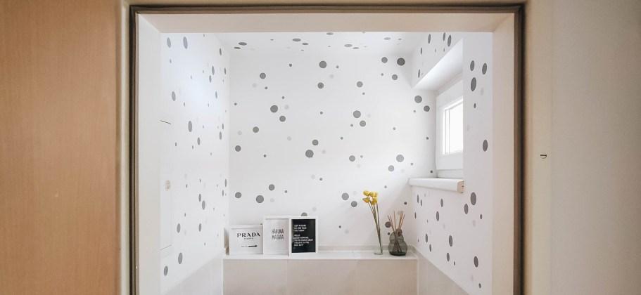 yellowgirl-WC neu gestalten- Raum für Polka Dot Farbakzente mit Baufix* (1 von 2)
