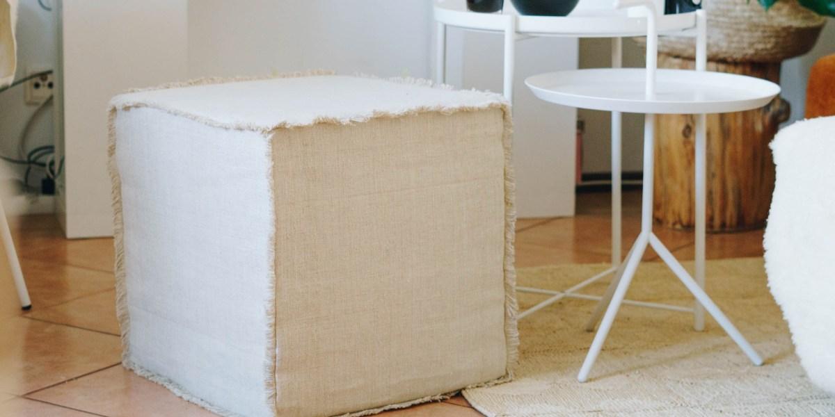 DIY Wohnzimmer: mein kleiner Sitzwürfel mit Fransen