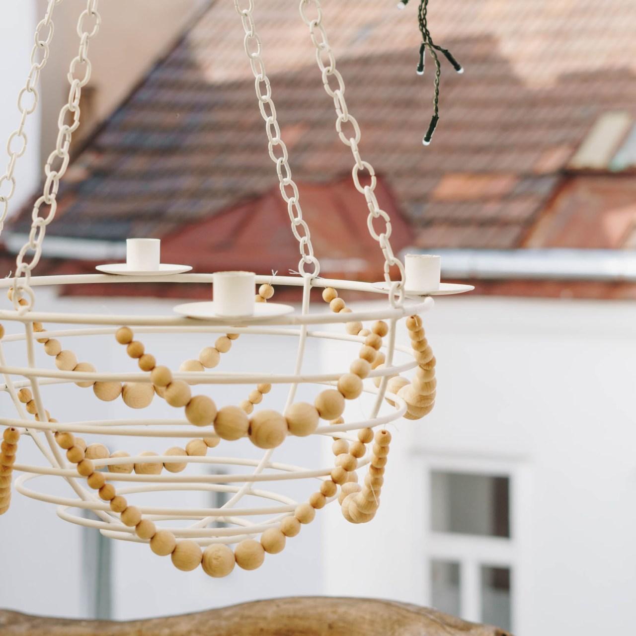 DIY Boho: hängender Outdoor Kerzenleuchter