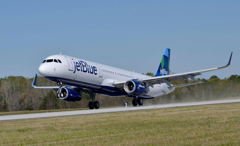 The first Alabama-made A321 takes off for initial flight testing. (Image: Airbus)