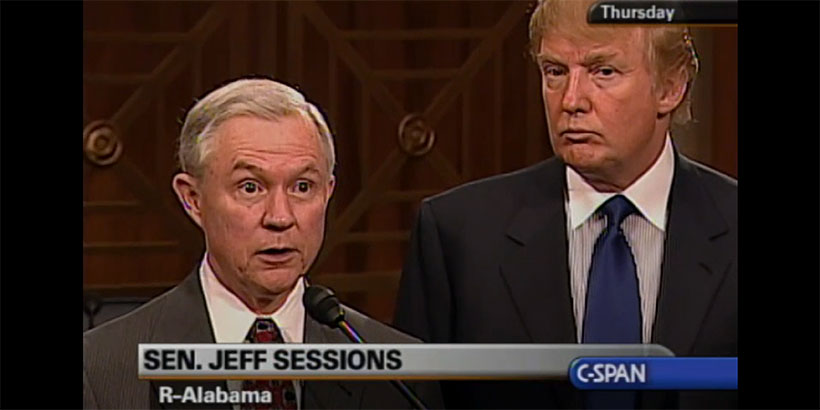 Image result for PHOTO OF TRUMP JEFF SESSIONS