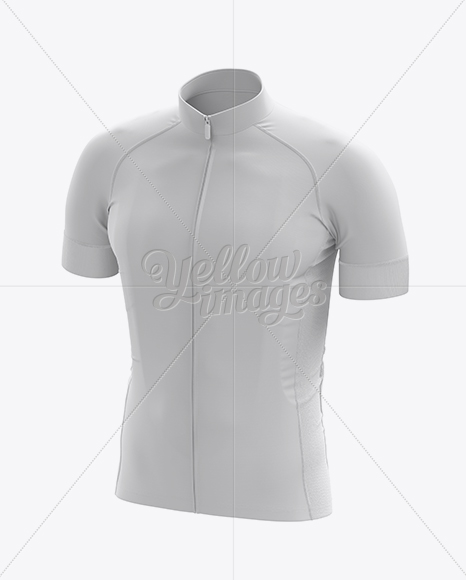 Download Men's Cycling Jersey Mockup - Front 3/4 View in Apparel ...