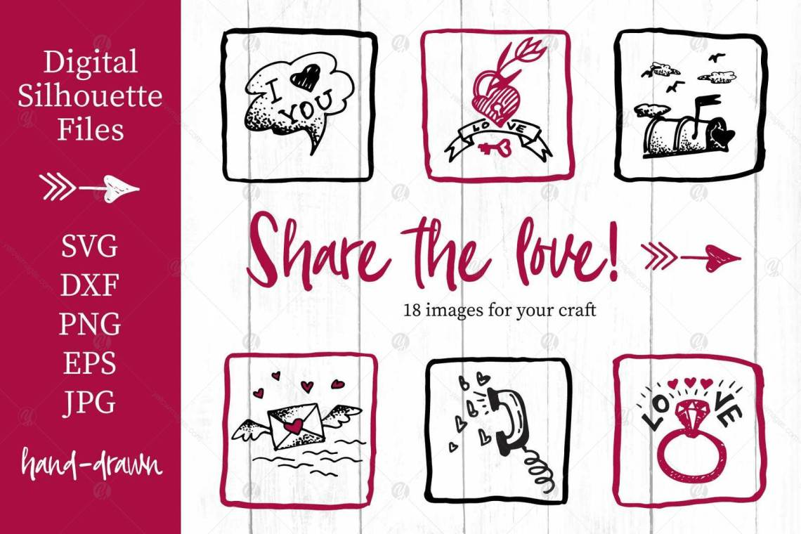 Download Lovely valentines day set - #4 SVG collection in Patterns ...