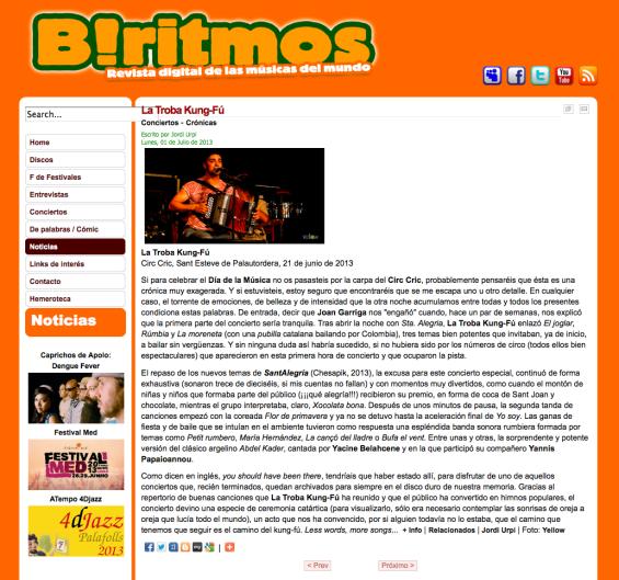 B!RITMOS | TROBA KUNG FU | 01.07.2013