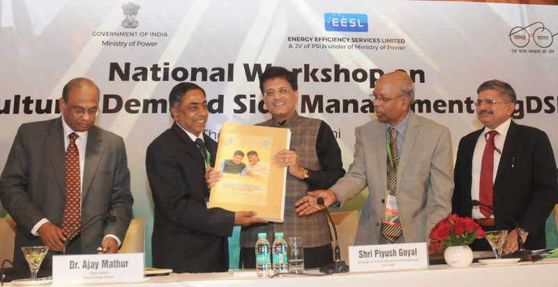 The Minister of State (Independent Charge) for Power, Coal and New and Renewable Energy, Mr. Piyush Goyal at the valedictory function of the Agricultural Demand Side Management National Workshop, organised by the Energy Efficiency Services Limited, in New Delhi on January 18, 2016.