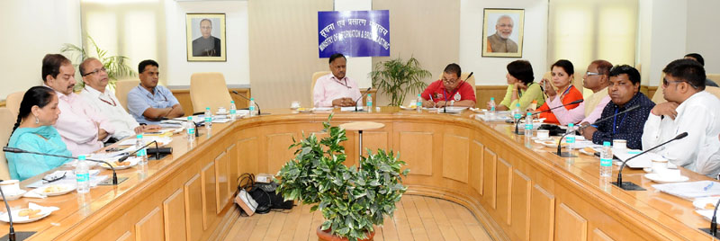 A delegation of Senior Editors and Journalist of Nepal meeting the Secretary, Ministry of Information & Broadcasting, Mr. Ajay Mittal, in New Delhi on May 24, 2016. The Director General (M&C), Press Information Bureau, Mr. A.P. Frank Noronha is also seen.