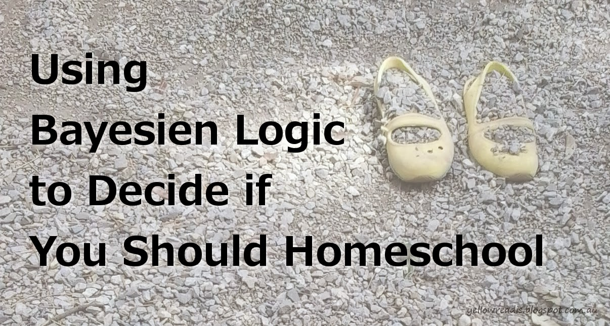 Using Bayesien Logic to Decide if You Should Homeschool, yellowreadis.com Image Yellow shoes in gravel